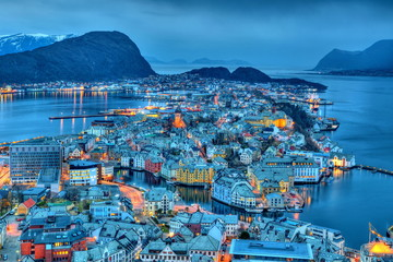 City of Alesund in Norway