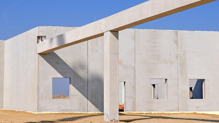 hallenbau, betonteile