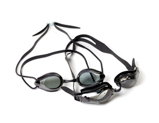 Two wet goggles for swimming
