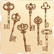 Set of Antique Keys. - 81619479
