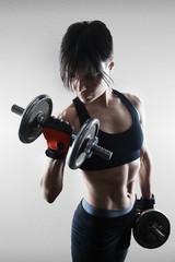 Girl doing exercise