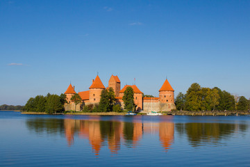 Ancient Trakai castle in Lithuania