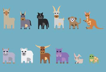 set of animal.