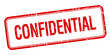 confidential red square grungy vintage isolated stamp - 81620043