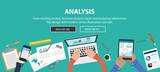 Fototapety Marketing Analysis Accounting Team Teamwork Business Concept