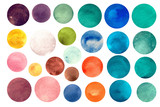 Watercolour circle textures