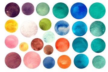 Watercolour circle textures