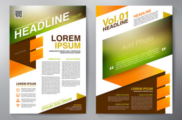 Brochure design a4 template. Vector