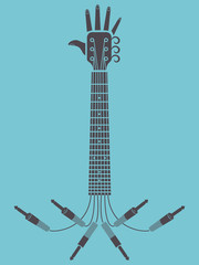 Hands up concert, guitar arm concept