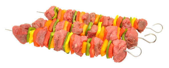 Raw Beef And Sweet Pepper Kebabs