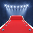 Red carpet event with spotlights , Award ceremony - 81622881