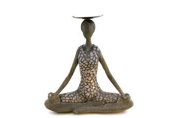 candlestick in the form of a woman meditating