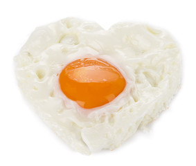 Heart Shaped Egg Isolated