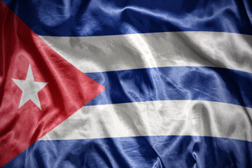 shining cuban flag