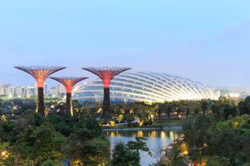 Gardens by the Bay is a park spanning 101 hectares of reclaimed