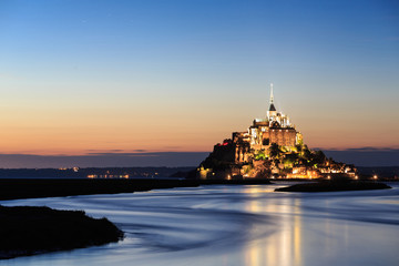Le Mont Saint Michel, an UNESCO world heritage site in France