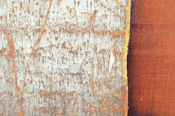 Background horizontal image as a steel sheet coated with rust