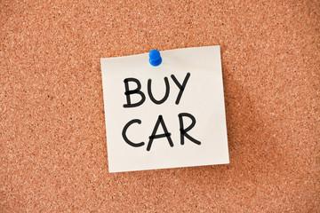 memo: buy car