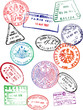 Travel Passport Stamps (Vector) - 81626443