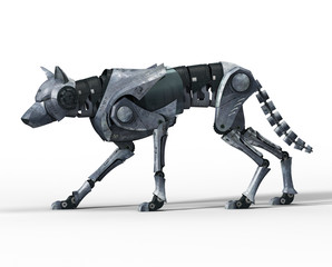 Walking Wolf Robot Side View