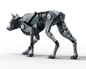 Walking Wolf Robot Back View