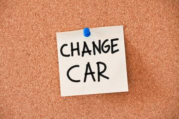 memo: change car