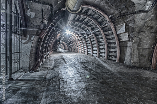 Fototapeta Underground Tunnel in the Mine, HDR