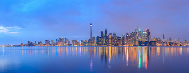 Scenic view at Toronto city waterfront skyline © pigprox