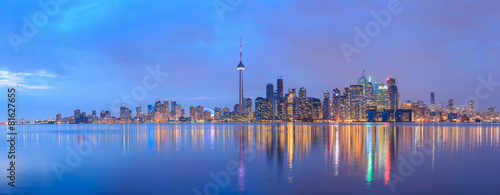 Foto Spatwand Europa Scenic view at Toronto city waterfront skyline