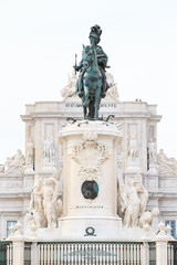 Statue of King Jose I at the Commerce Square (Praca do Comercio)