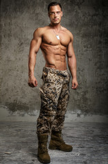Handsome male with naked torso