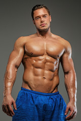 Awesome male with naked torso