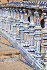 Ceramic bridge in Plaza de Espana in Seville, Andalusia