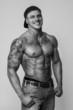 Awesome smiling muscular guy