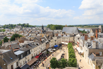 city of over a dozen thousand inhabitants in the Loire Valley
