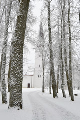 Winter landscape in Sigulda.