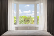 Bay window with summer view - 81629675