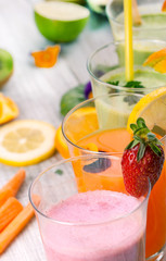 fresh delicious juice and smoothie