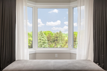 Bay window with summer view