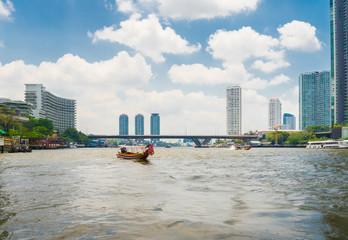 Scenic view of the Chao Praya River in Bangkok