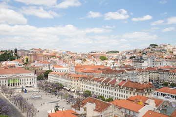Rossio Square (Praca do Rossio) in Lisbon