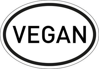 Kennzeichen Vegan
