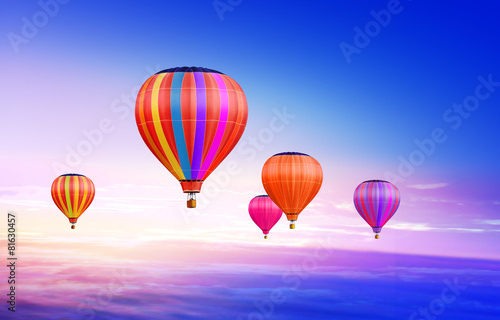 air-balloons in sky - 81630457