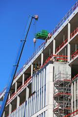 Fassadenelemente an Betonskelettbau