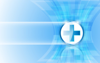medical health care logo on rectangle abstract design background