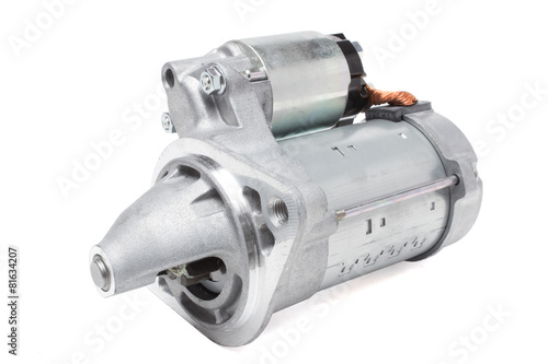 starter motor car on a white background - 81634207
