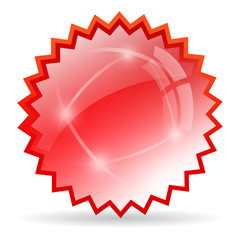 Red glass star icon
