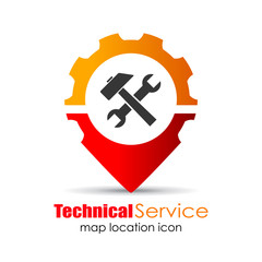 Technical service map marker