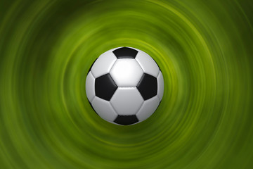 soccer Ball and green background