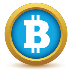 Gold Bitcoin icon